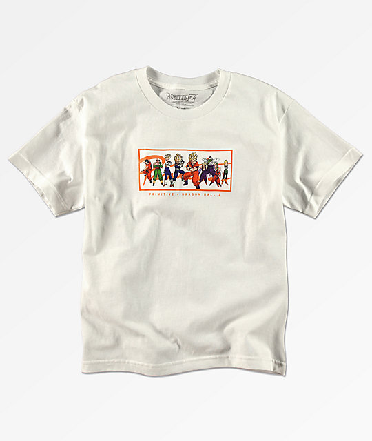Primitive x Dragon Ball Z Boys Nuevo White T-Shirt