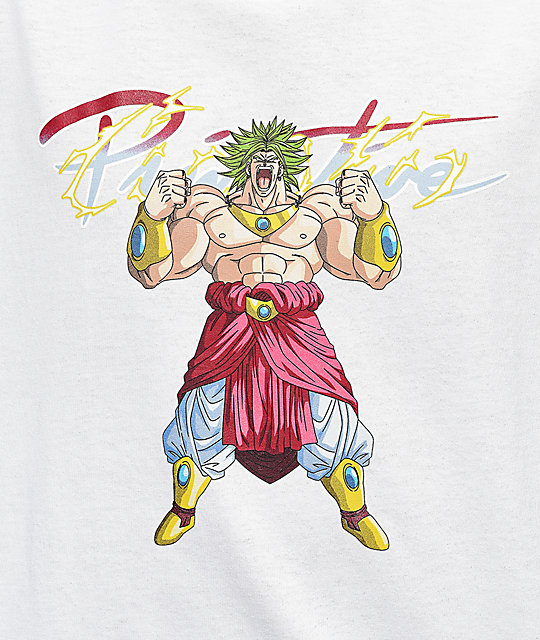 Primitive x Dragon Ball Z Broly camiseta blanca