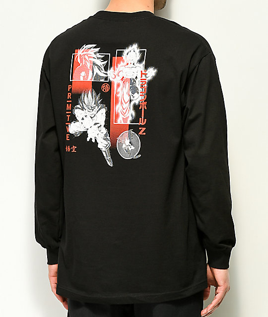 Primitive x Dragon Ball Z Collage Black Long Sleeve T-Shirt