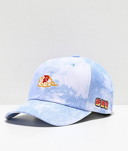 40dfc050 Primitive x Dragon Ball Z Dirty P Blue Tie Dye Strapback Hat | Zumiez