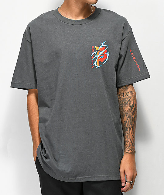 Primitive x Dragon Ball Z Dirty P camiseta gris