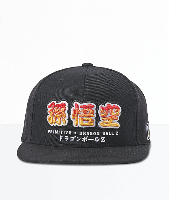 Primitive x Dragon Ball Z Dragon Black & Orange Snapback Hat