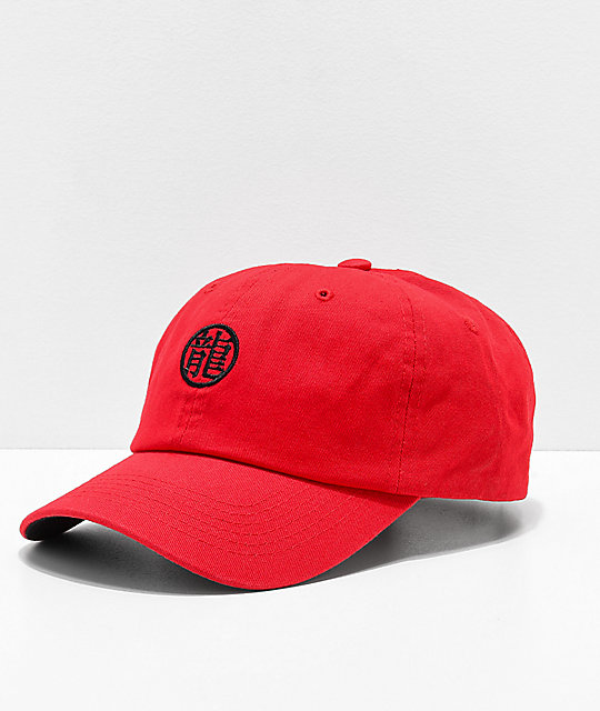 Primitive x Dragon Ball Z Dragon Symbol Red Strapback Hat
