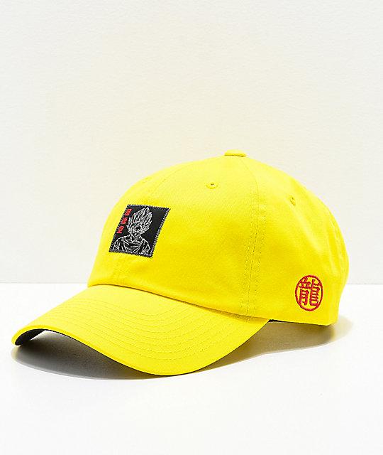 Primitive x Dragon Ball Z Goku Reflective Yellow Strapback Hat  604c17426da