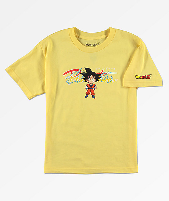 Primitive x Dragon Ball Z Goku Yellow Boys T-Shirt