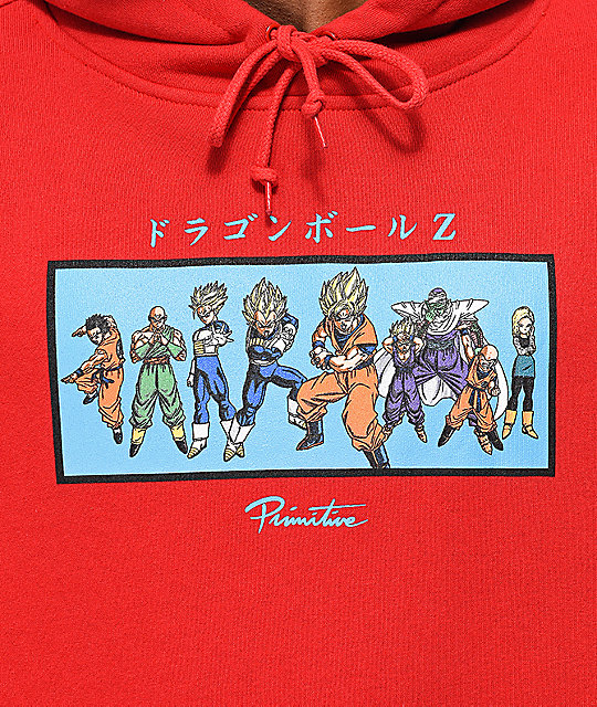 Primitive x Dragon Ball Z Heroes Red Hoodie