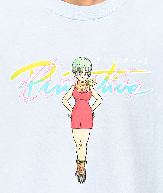 Primitive x Dragon Ball Z Nuevo Bulma Blue T-Shirt