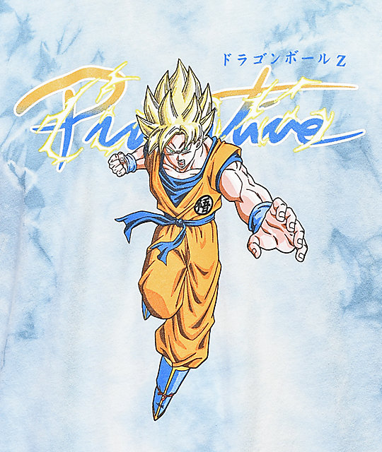 Primitive x Dragon Ball Z Nuevo Super Saiyan Goku camiseta azul