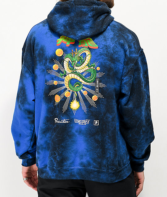 Primitive x Dragon Ball Z Shenron Blue Wash Hoodie