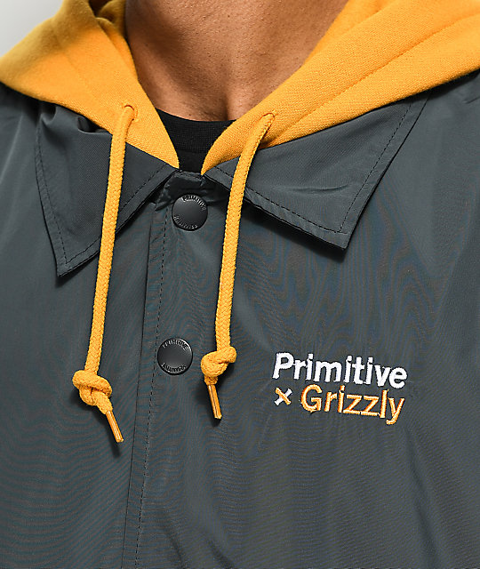 Primitive x Grizzly Hooded Coaches Jacket
