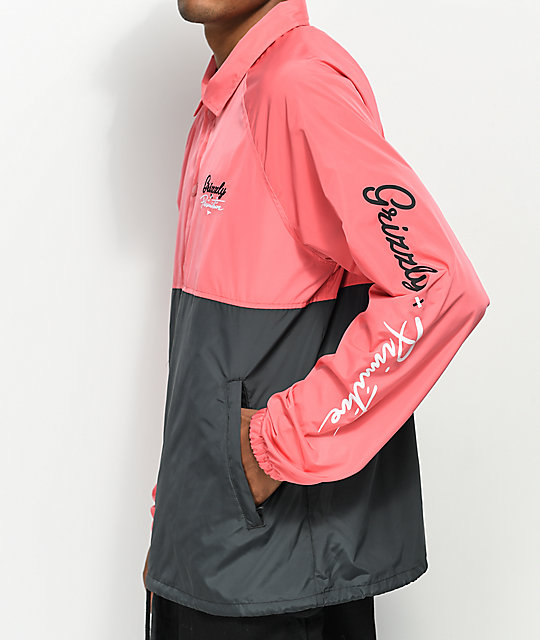 Primitive x Grizzly Pink & Black Anorak Jacket