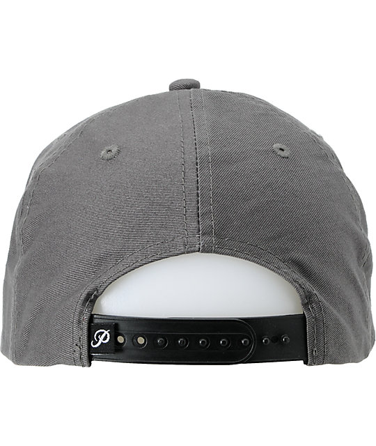 Primitive x Grizzly x Diamond Cultivated Grey Snapback Hat