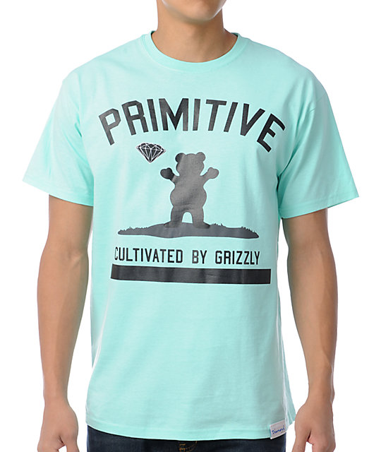 Primitive x Grizzly x Diamond Cultivated Teal T-Shirt