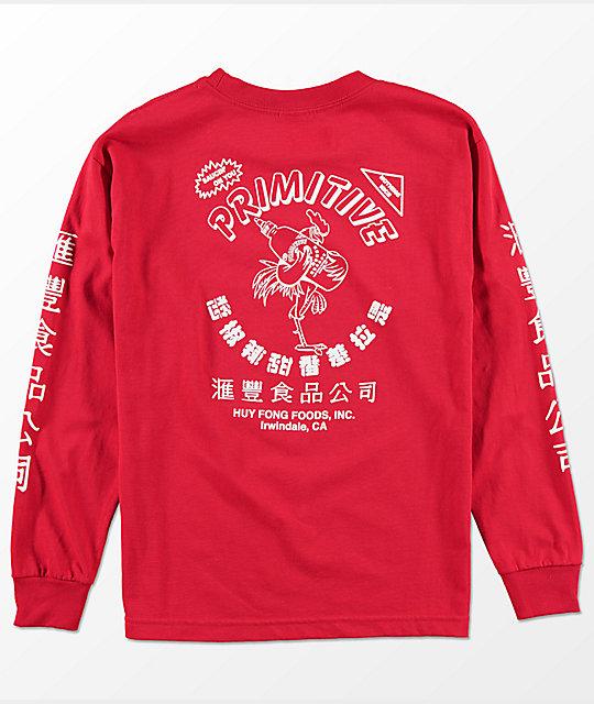 ... Primitive x Huy Fong Boys Long Sleeve Red T-Shirt a7bb11ec2d30