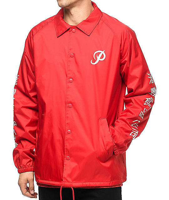 Primitive x Huy Fong Foods Red Coaches Jacket
