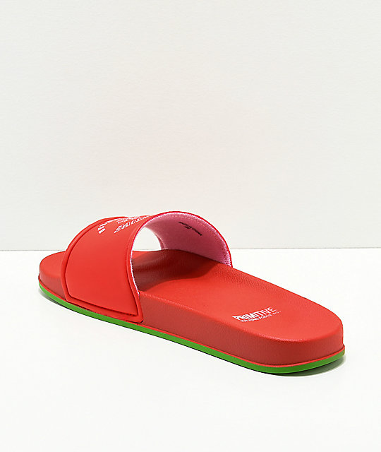 Primitive x Huy Fong Red Slide-On Sandals
