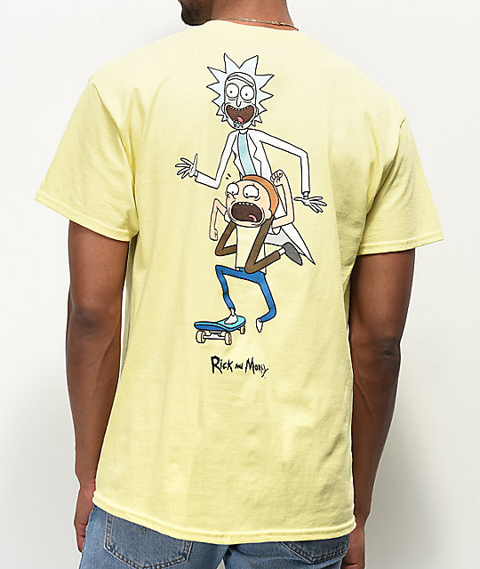 Primitive x Rick and Morty Classic P Yellow T-Shirt