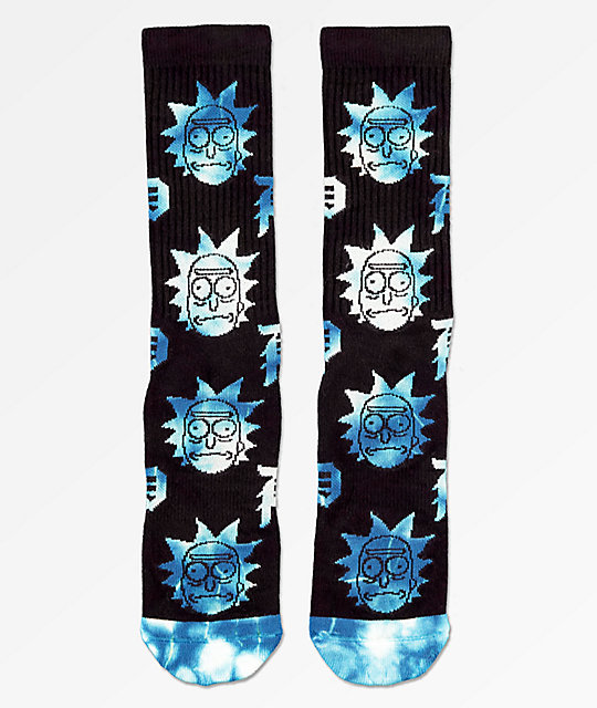 Primitive x Rick and Morty Dirty P Black & Blue Crew Socks