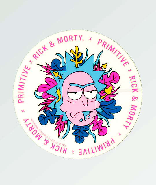 Primitive x Rick and Morty Floral Rick Sticker