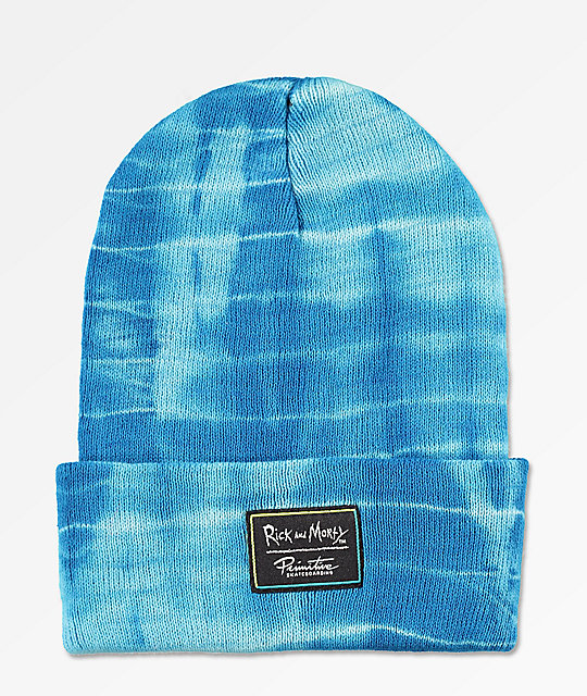 Primitive x Rick and Morty Happy Morty Washed Blue Beanie
