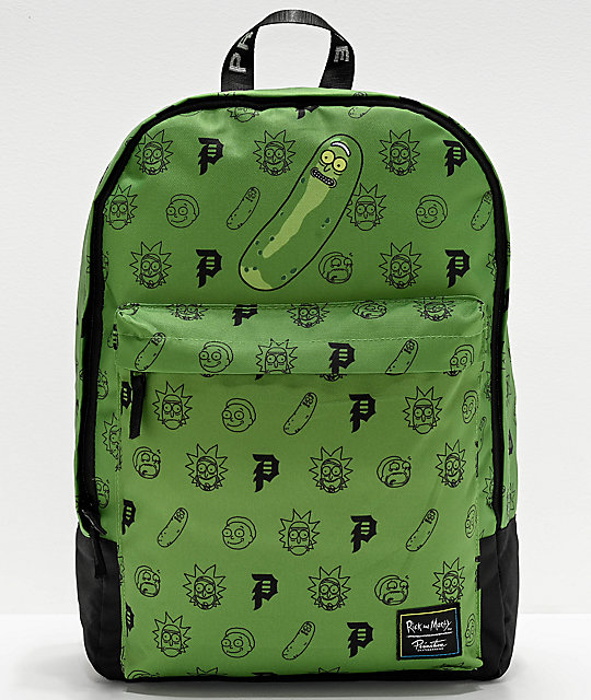 Primitive x Rick and Morty Pickle Rick Green Backpack