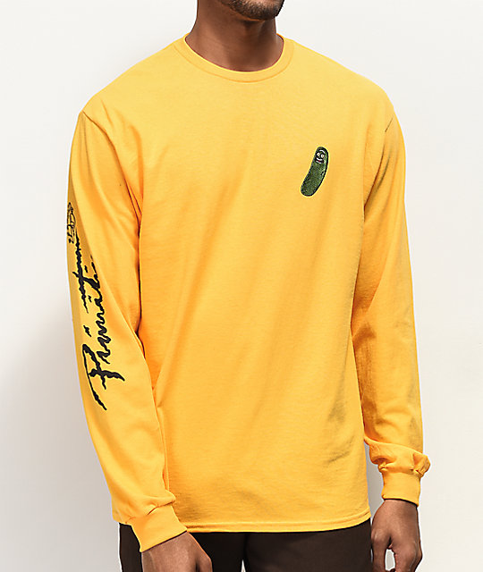 15992ea77d Primitive x Rick and Morty Pickle Rick Yellow Long Sleeve T-Shirt | Zumiez