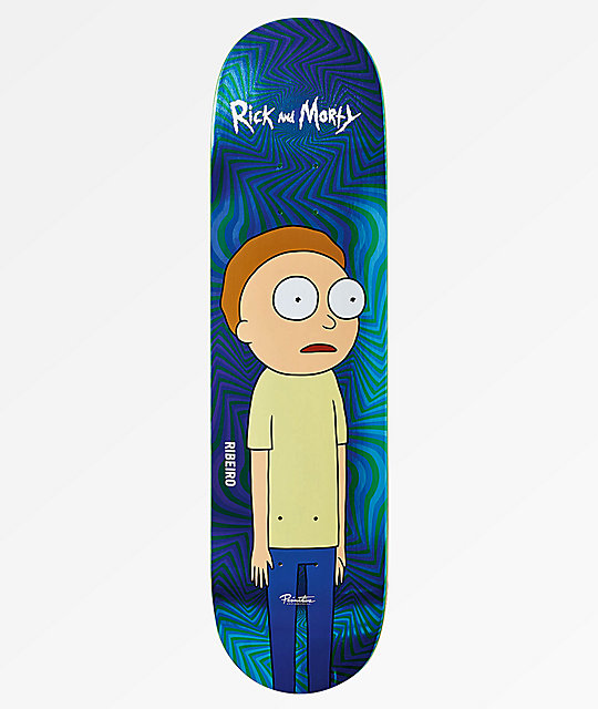 "Primitive x Rick and Morty Ribeiro Morty 8.1"" Skateboard Deck"