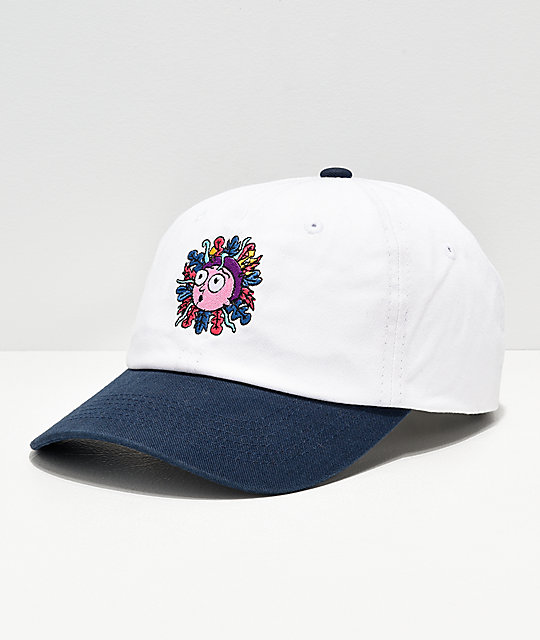 Primitive x Rick and Morty White & Black Strapback Hat