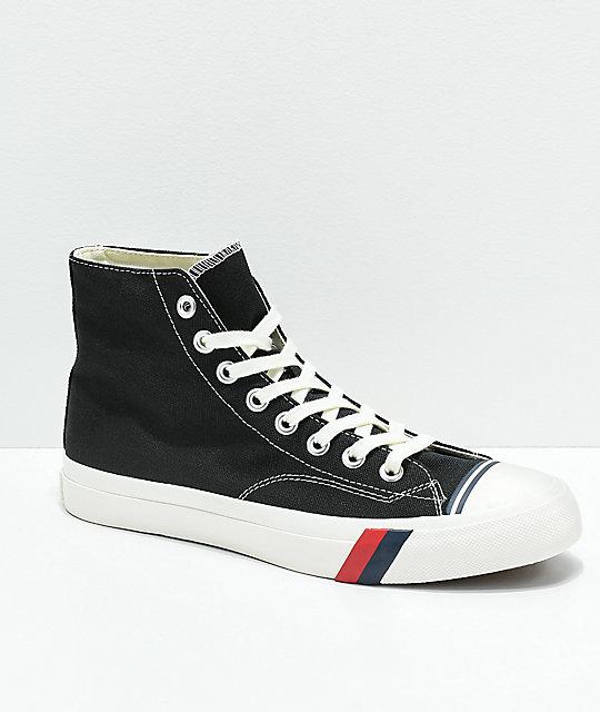 e3eede3aba2b3 Pro-Keds Royal Hi Black & White Shoes