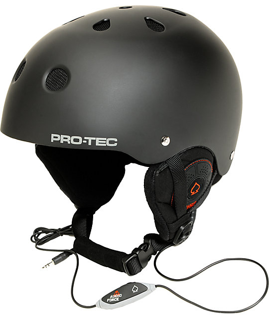 Pro-tec Classic Black Audio Force Snowboard Helmet