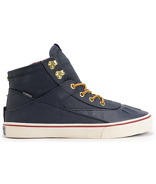 Project CANVAS Primary High Navy & White Canvas Skate Shoes
