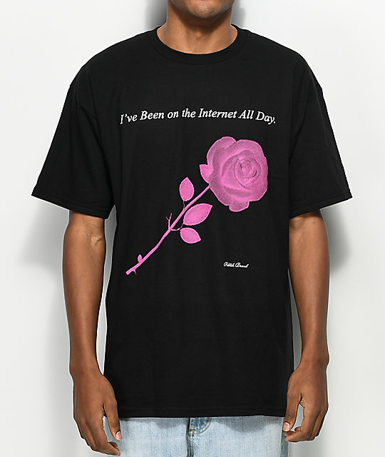 Publish Internet Rose Black T-Shirt