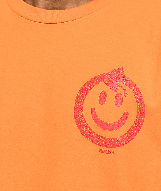 Publish Snake Smile Orange T-Shirt
