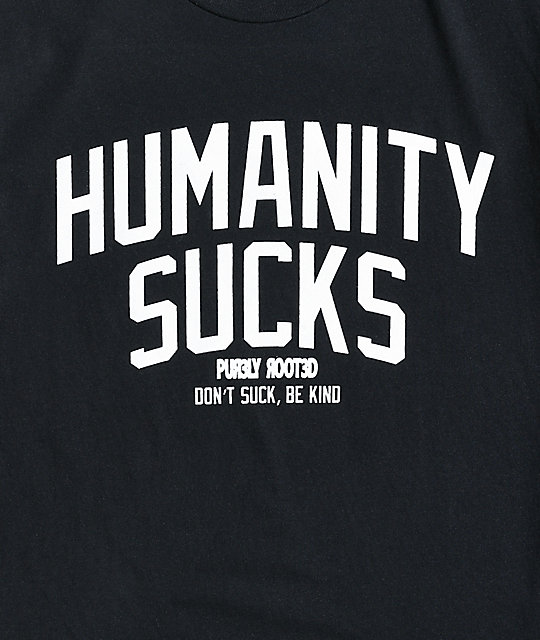 Pur3ly Root3d Humanity Black T-Shirt