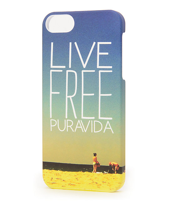 Pura Vida Live Free iPhone 5 Case