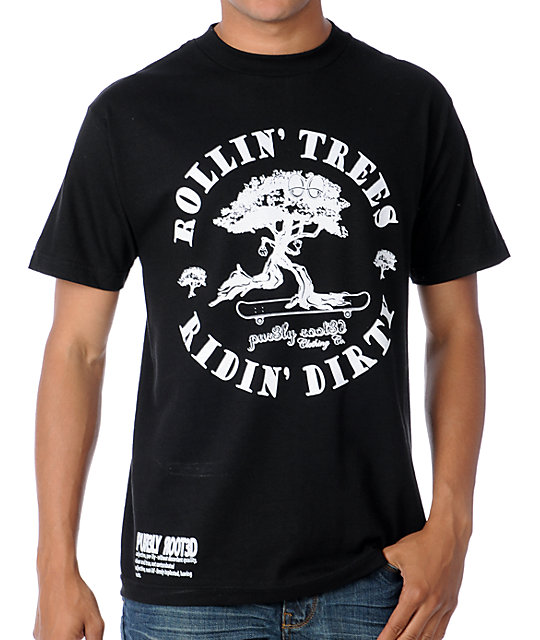 Purl3Y Root3d Rollin Trees Black T-Shirt
