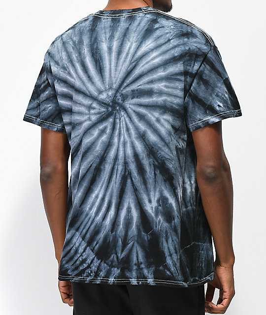Pyramid County Falling Black Tie Dye T-Shirt