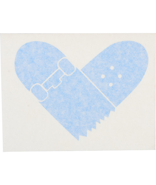 Quagmire Skate Heart Blue Decal Sticker