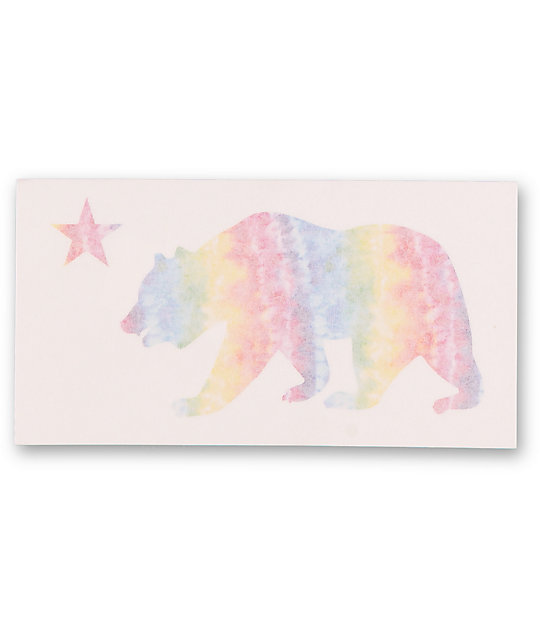 Quagmire Tie Dye Trippy Bear Sticker