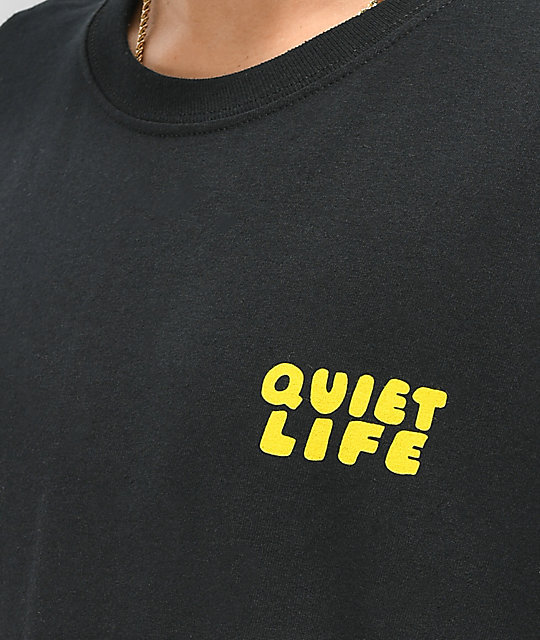 Quiet Life Kenney Rabbit camiseta negra de manga larga