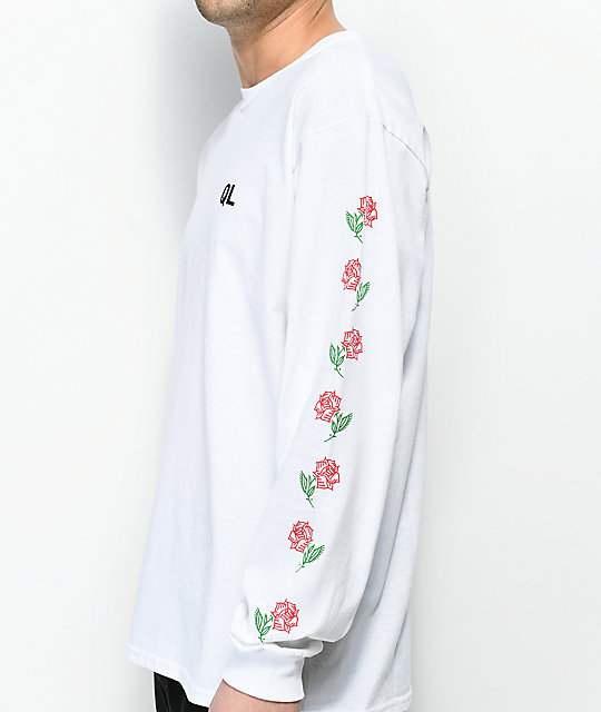 Quiet Life Rose White Long Sleeve T-Shirt