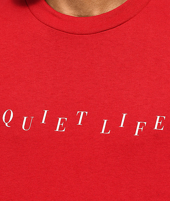 Quiet Life Stagger Red T-Shirt