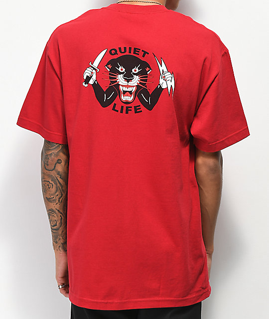 Quiet Life Venom Panther Cardinal Red T-Shirt