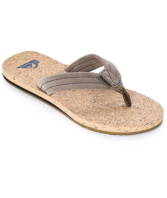 0923bf02085 Quiksilver Carver Suede   Cork Sandals