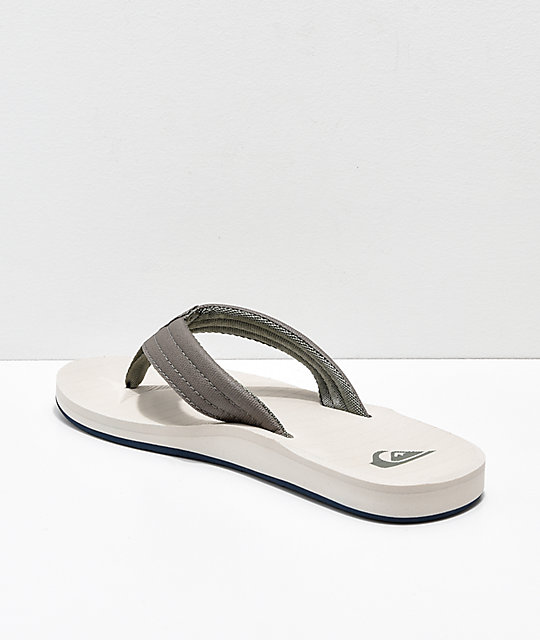 Quiksilver Carver Tropics Green, Blue & Grey Sandals