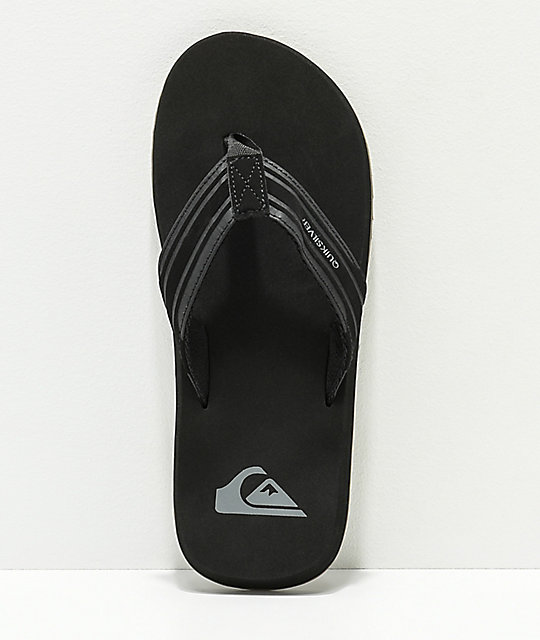 Quiksilver Monkey Wrench Black & Gum Sandals