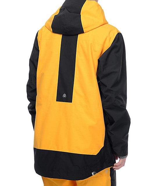 6ebccc420683 ... Quiksilver Travis Rice Exhibition GORE-TEX Yellow   Black Snowboard  Jacket ...