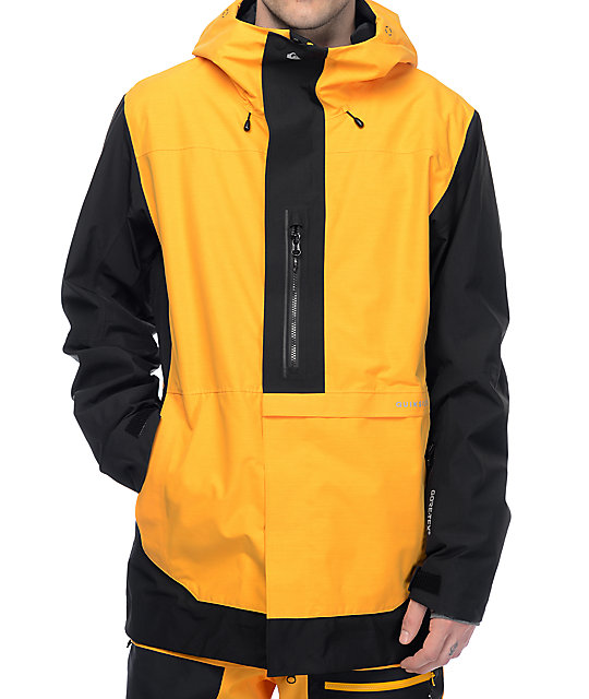 cheap for discount 352cc b7d0f Quiksilver Travis Rice Exhibition GORE-TEX Yellow & Black Snowboard Jacket