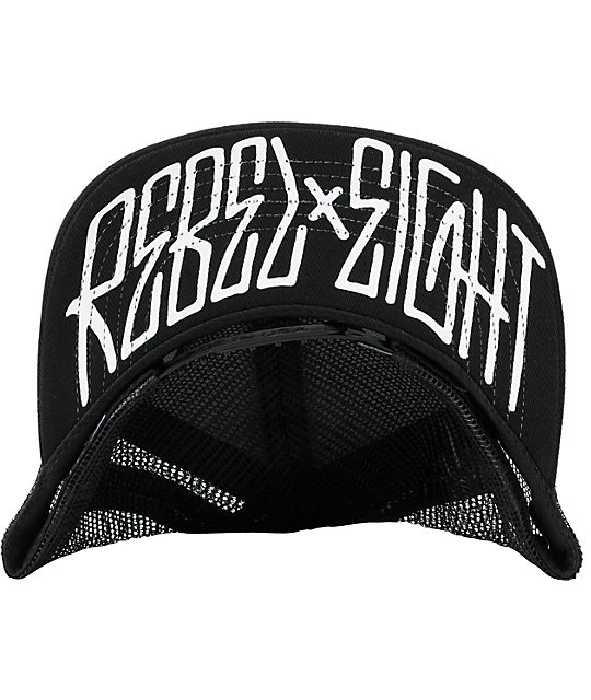 REBEL8 All City Black Snapback Trucker Hat