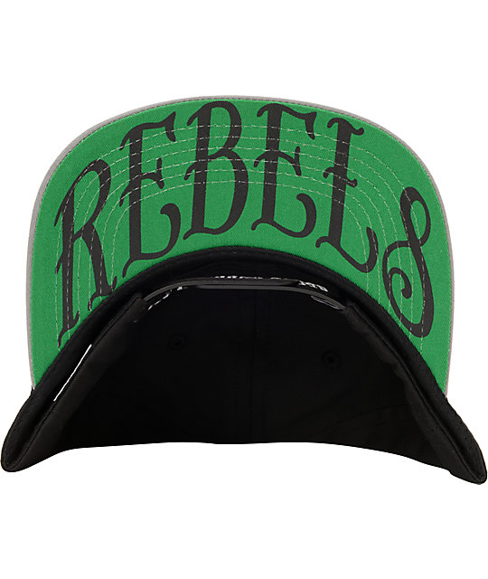 REBEL8 Always A Rebel Black & Grey Snapback Hat